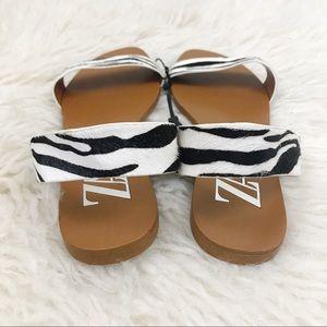 Zara Shoes - NEW Zara Zebra Print Calf Hair Leather Flats 39